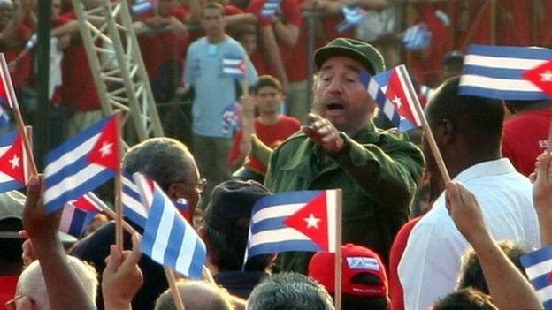 Castro na raia wa Cuba