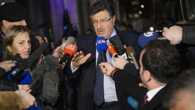 HNC's Salim Muslet in Geneva on 30 January 2016