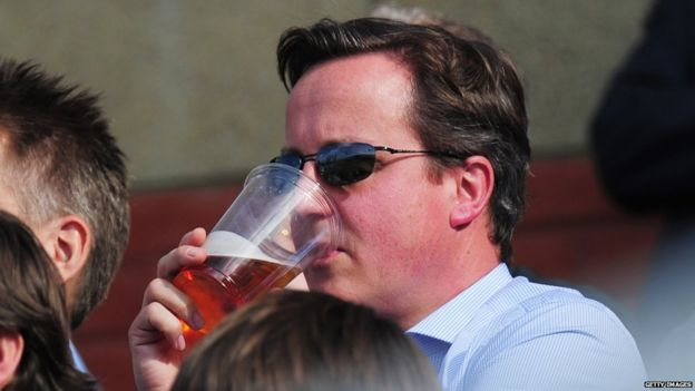 David Cameron watching cricket in 2011
