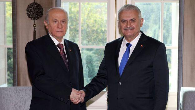 MHP Genel Başkanı Devlet Bahçeli ve Başbakan Binali Yıldırım