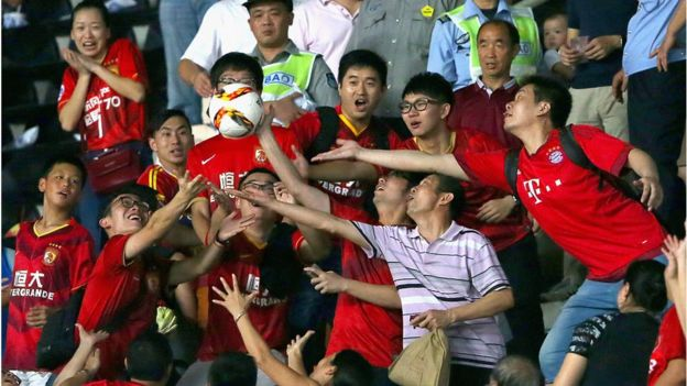 Supporters in China