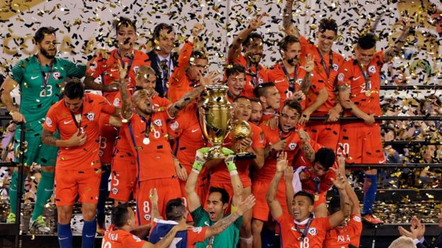 Chile recibe la copa