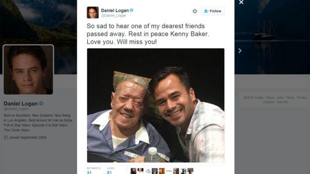 Daniel Logan tweet: