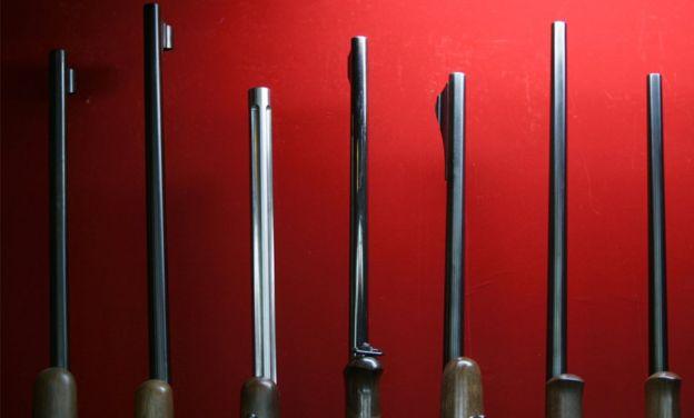 Rifles en una tienda de armas de Japón.