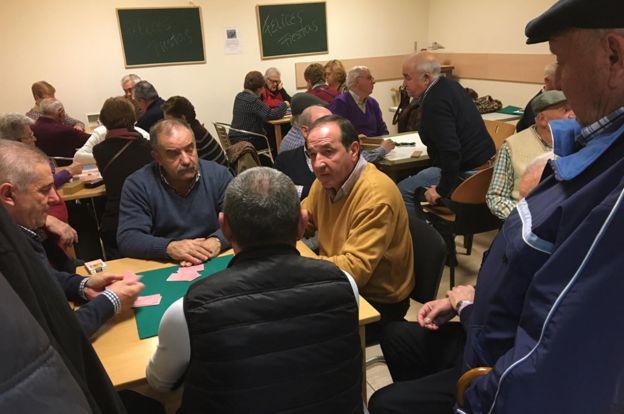Mineros de Asturias en un club social