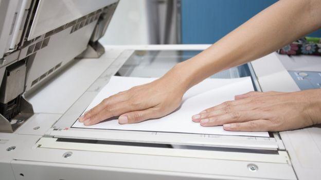 Escaneando con fotocopiadora