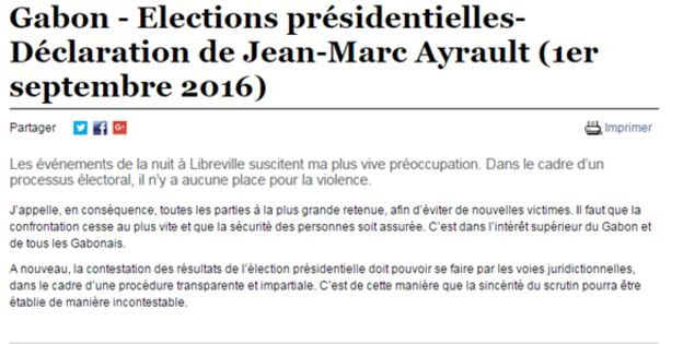 Jean-Marc Ayrault, le ministre des Affaires étrangères appelle à cesser la confrontation