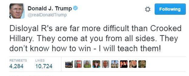 Donald Trump tweets: