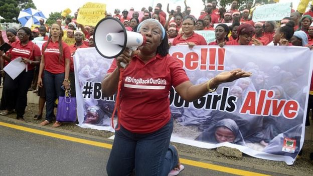 Nollywood celebrity Patience Ozokwor, aka Mama G, pleads for the release of the more than 200 abducted Chibok school girls in Lagos on May 29, 2014,