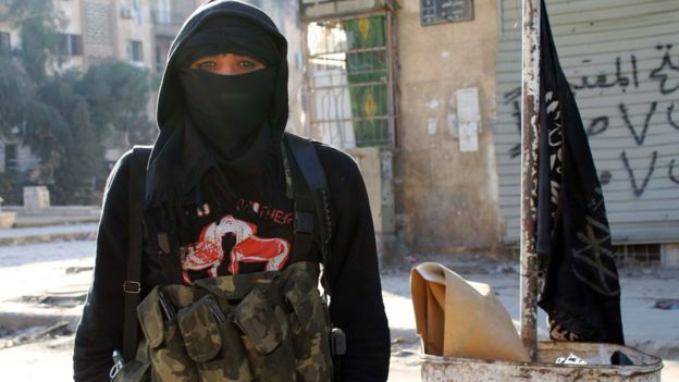 Combatiente de al Nusra.