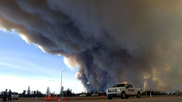 Canada wildfire reaches Saskatchewan