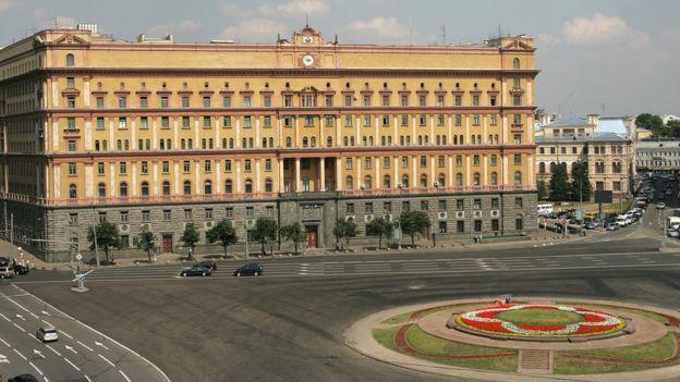 El viejo cuartel general de la KGB en Moscú, donde ahora funciona el Servicio Federal de Seguridad de Rusia.