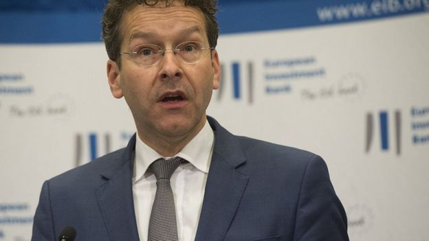 The head of the Eurogroup, Jerome Dijsselbloem