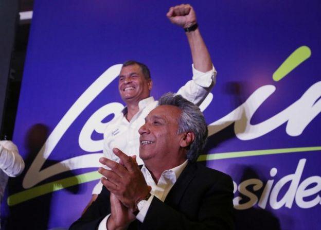 Rafael Correa y Lenin Moreno.