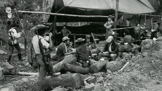 Uno de los primeros campamentos guerrilleros de las FARC