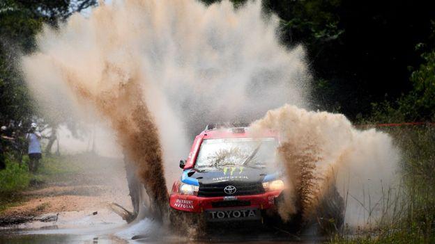 Imagen del rally Dakar en Paraguay.