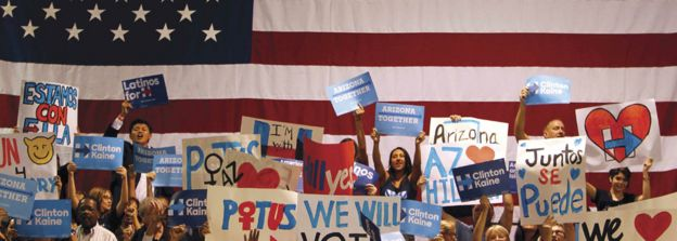Clinton supporters in Arizon