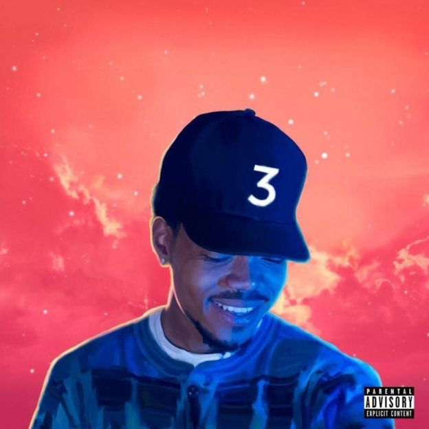 The cover for Chance The Rapper's album, Coloring Book