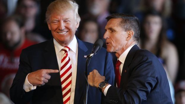 Donald Trump y Michael Flynn.