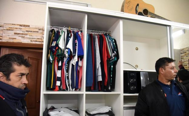 View of a closet at Brazilian drug trafficker Jarvis Chimenes Pavao