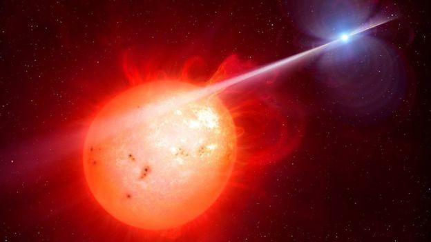 Imagem computadorizada simula estrela anã que libera raios