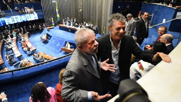 Lula en el Senado