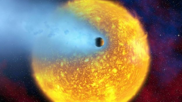 O HD 209458 b, ou 'Osiris', foi o primeiro exoplaneta observado passando em frente à sua estrela