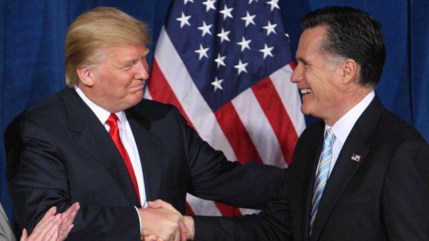 Trump y Mitt Romney
