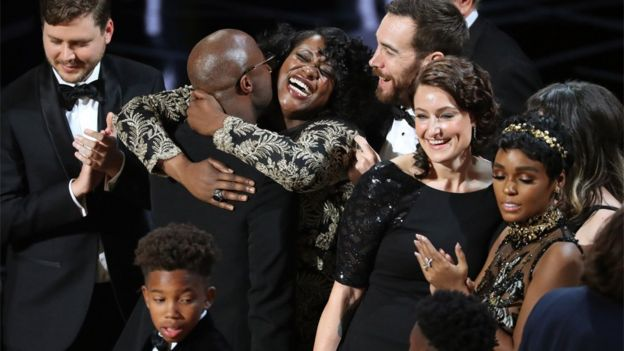 Cast of Moonlight celebrate