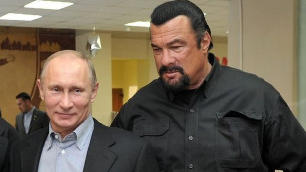 Vladimir Putin and Steven Seagal