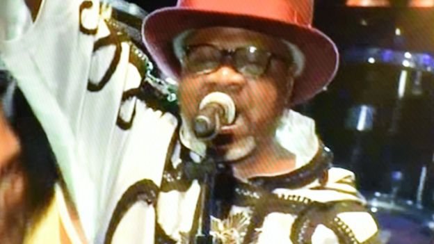 Papa Wemba on stage during his final performance