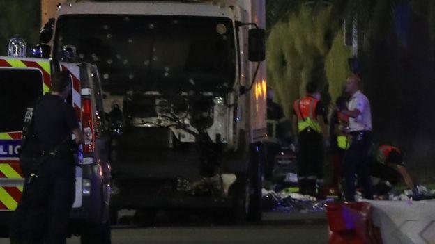 El camión del ataque