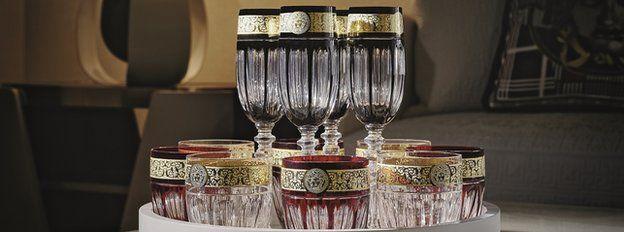 Versace wine goblets