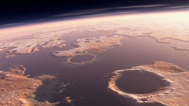 illustration of Martian ocean