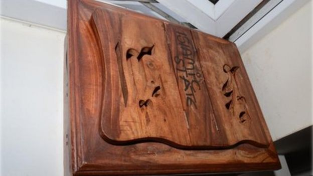 Police found a wooden box labelled