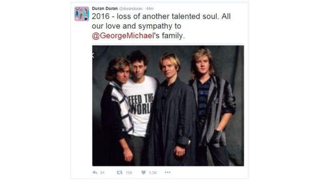 Duran Duran tweet