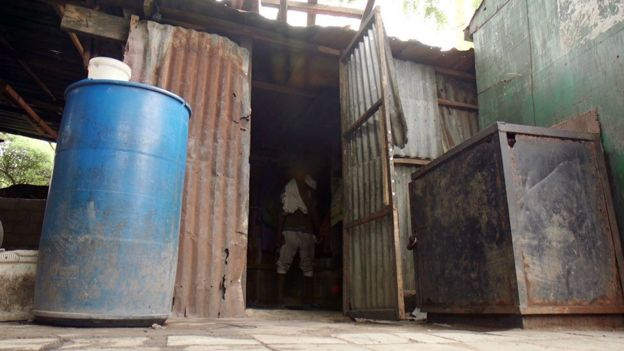 The shed where the boys sleep