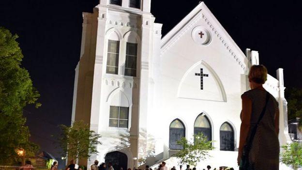 Esta fue la iglesia en la que irrumpió Roof y asesinó a nueve personas.
