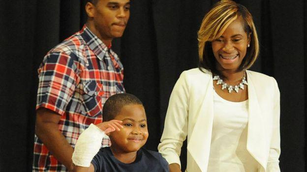Zion Harvey y su madre Pattie Ray