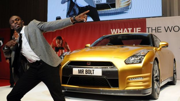 Sprint champion Usain Bolt has been appearing in Nissan adverts since 2012