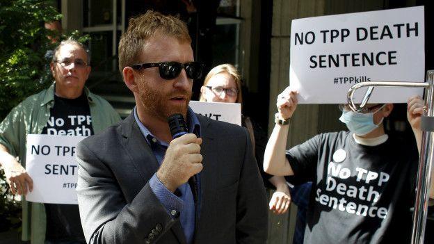 Marcha contra el TPP.