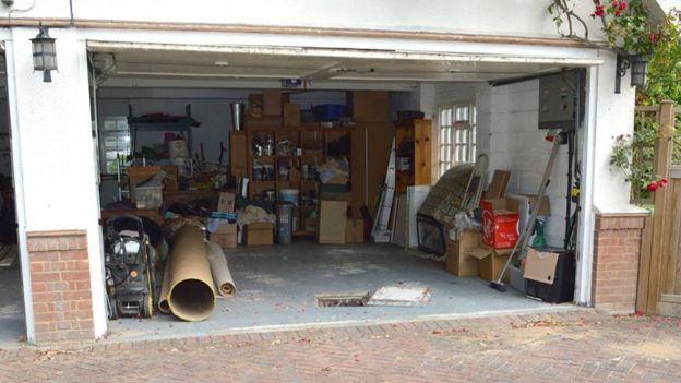 Cesspit in garage