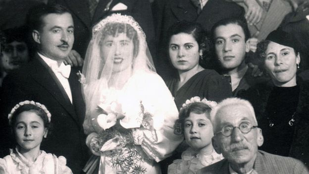Matossian's grandfather, Hovhannes, on the day Nouritza's mother and father got married