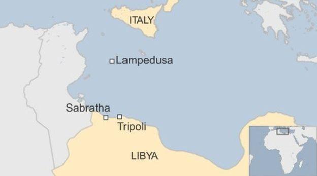 Italy/Libya map