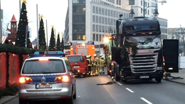 El camión con el que se cometió el ataque en Berlín.