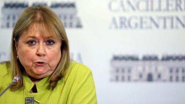 La presidenta temporal de Mercosur, la argentina Susana Malcorra, se reunió luego con la canciller venezolana.