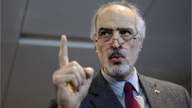 Syrian government delegation head Bashar al-Jaafari, Geneva (31 January)