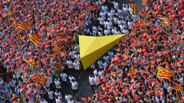 National Day march in Barcelona, 11 September