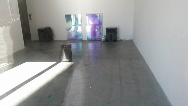 The exhibition space after cleaning