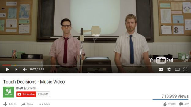 Captura de pantalla de Rhett y Link